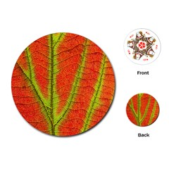Unique Leaf Playing Cards (Round)