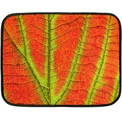 Unique Leaf Double Sided Fleece Blanket (Mini)