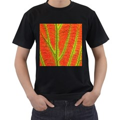 Unique Leaf Men s T-Shirt (Black)