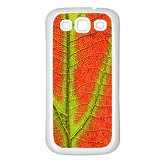 Unique Leaf Samsung Galaxy S3 Back Case (White)