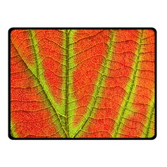 Unique Leaf Double Sided Fleece Blanket (Small)