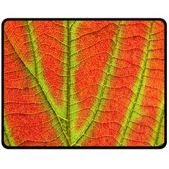 Unique Leaf Double Sided Fleece Blanket (Medium)