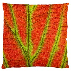 Unique Leaf Large Flano Cushion Case (One Side)