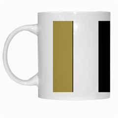 Black Brown Gold White Stripes Elegant Festive Stripe Pattern White Mugs