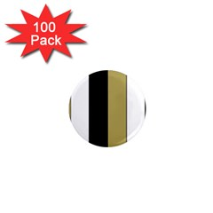 Black Brown Gold White Stripes Elegant Festive Stripe Pattern 1  Mini Magnets (100 pack)
