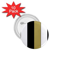 Black Brown Gold White Stripes Elegant Festive Stripe Pattern 1.75  Buttons (10 pack)
