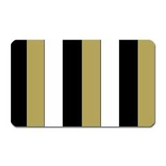 Black Brown Gold White Stripes Elegant Festive Stripe Pattern Magnet (Rectangular)