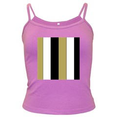 Black Brown Gold White Stripes Elegant Festive Stripe Pattern Dark Spaghetti Tank