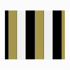 Black Brown Gold White Stripes Elegant Festive Stripe Pattern Small Glasses Cloth