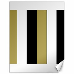 Black Brown Gold White Stripes Elegant Festive Stripe Pattern Canvas 12  x 16
