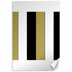 Black Brown Gold White Stripes Elegant Festive Stripe Pattern Canvas 12  x 18