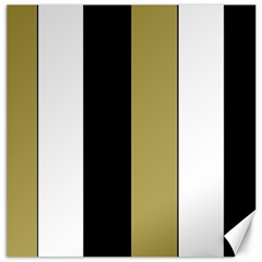 Black Brown Gold White Stripes Elegant Festive Stripe Pattern Canvas 16  x 16