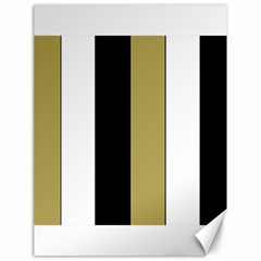 Black Brown Gold White Stripes Elegant Festive Stripe Pattern Canvas 18  x 24