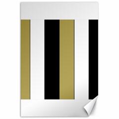 Black Brown Gold White Stripes Elegant Festive Stripe Pattern Canvas 20  x 30