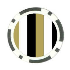 Black Brown Gold White Stripes Elegant Festive Stripe Pattern Poker Chip Card Guards