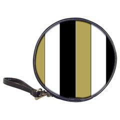 Black Brown Gold White Stripes Elegant Festive Stripe Pattern Classic 20-CD Wallets