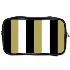 Black Brown Gold White Stripes Elegant Festive Stripe Pattern Toiletries Bags