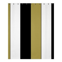 Black Brown Gold White Stripes Elegant Festive Stripe Pattern Shower Curtain 60  x 72  (Medium)