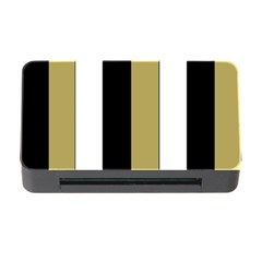 Black Brown Gold White Stripes Elegant Festive Stripe Pattern Memory Card Reader with CF