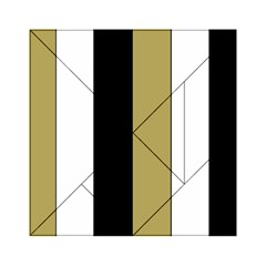 Black Brown Gold White Stripes Elegant Festive Stripe Pattern Acrylic Tangram Puzzle (6  x 6 )