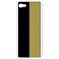 Black Brown Gold White Stripes Elegant Festive Stripe Pattern Apple iPhone 5 Hardshell Case