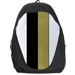 Black Brown Gold White Stripes Elegant Festive Stripe Pattern Backpack Bag
