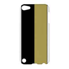 Black Brown Gold White Stripes Elegant Festive Stripe Pattern Apple iPod Touch 5 Hardshell Case