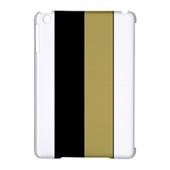 Black Brown Gold White Stripes Elegant Festive Stripe Pattern Apple iPad Mini Hardshell Case (Compatible with Smart Cover)
