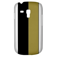 Black Brown Gold White Stripes Elegant Festive Stripe Pattern Galaxy S3 Mini