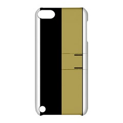 Black Brown Gold White Stripes Elegant Festive Stripe Pattern Apple iPod Touch 5 Hardshell Case with Stand