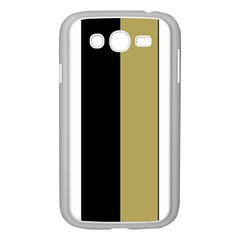 Black Brown Gold White Stripes Elegant Festive Stripe Pattern Samsung Galaxy Grand DUOS I9082 Case (White)