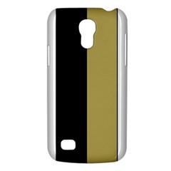 Black Brown Gold White Stripes Elegant Festive Stripe Pattern Galaxy S4 Mini