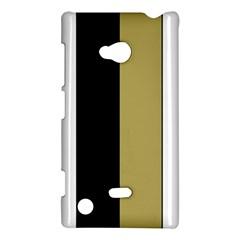 Black Brown Gold White Stripes Elegant Festive Stripe Pattern Nokia Lumia 720