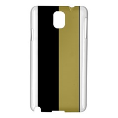 Black Brown Gold White Stripes Elegant Festive Stripe Pattern Samsung Galaxy Note 3 N9005 Hardshell Case