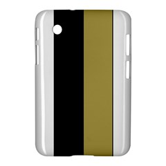 Black Brown Gold White Stripes Elegant Festive Stripe Pattern Samsung Galaxy Tab 2 (7 ) P3100 Hardshell Case