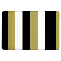 Black Brown Gold White Stripes Elegant Festive Stripe Pattern iPad Air Flip
