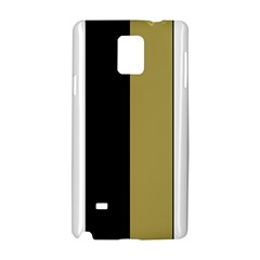 Black Brown Gold White Stripes Elegant Festive Stripe Pattern Samsung Galaxy Note 4 Hardshell Case