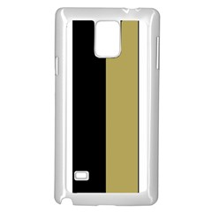 Black Brown Gold White Stripes Elegant Festive Stripe Pattern Samsung Galaxy Note 4 Case (White)