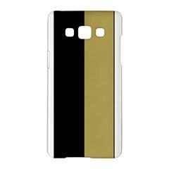 Black Brown Gold White Stripes Elegant Festive Stripe Pattern Samsung Galaxy A5 Hardshell Case
