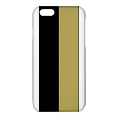 Black Brown Gold White Stripes Elegant Festive Stripe Pattern iPhone 6/6S TPU Case