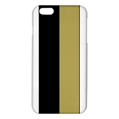 Black Brown Gold White Stripes Elegant Festive Stripe Pattern iPhone 6 Plus/6S Plus TPU Case