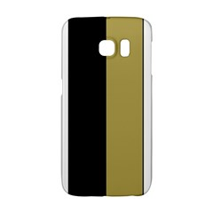 Black Brown Gold White Stripes Elegant Festive Stripe Pattern Galaxy S6 Edge