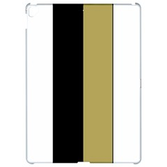 Black Brown Gold White Stripes Elegant Festive Stripe Pattern Apple iPad Pro 12.9   Hardshell Case