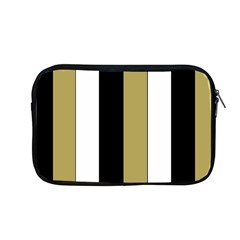Black Brown Gold White Stripes Elegant Festive Stripe Pattern Apple MacBook Pro 13  Zipper Case