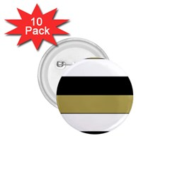 Black Brown Gold White Horizontal Stripes Elegant 8000 Sv Festive Stripe 1.75  Buttons (10 pack)