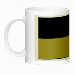 Black Brown Gold White Horizontal Stripes Elegant 8000 Sv Festive Stripe Night Luminous Mugs