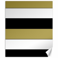 Black Brown Gold White Horizontal Stripes Elegant 8000 Sv Festive Stripe Canvas 20  x 24