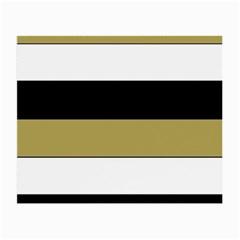 Black Brown Gold White Horizontal Stripes Elegant 8000 Sv Festive Stripe Small Glasses Cloth (2-Side)