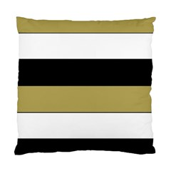 Black Brown Gold White Horizontal Stripes Elegant 8000 Sv Festive Stripe Standard Cushion Case (One Side)