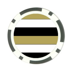 Black Brown Gold White Horizontal Stripes Elegant 8000 Sv Festive Stripe Poker Chip Card Guards (10 pack)